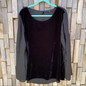 Woman's plus size XXL 2X black dress blouse sheer